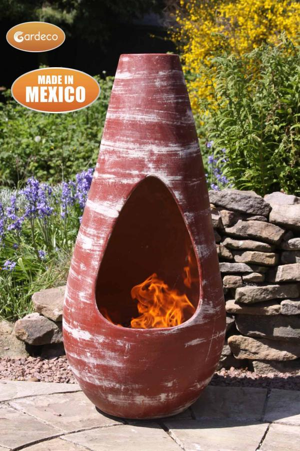 - Gota Chim-Art Medium, original Mexican chimenea in oxidised red