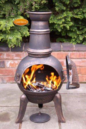 Granada Medium Bronze Cast Iron Chimenea