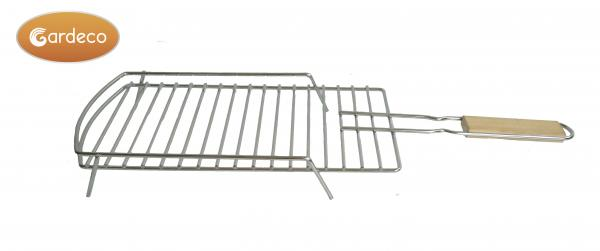 - Removable BBQ Grill, size 60cm L x 19cm W x 6cm H, Stainless steel, Brown box