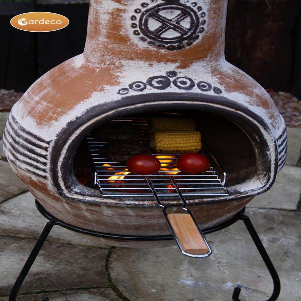 - Steel and Wood Removable BBQ grill