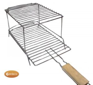 - Removable BBQ Grill for use with CHIM-EGG,2 levels, Stainless steel