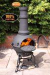 - Toledo Large Cast Iron Chimenea in Black,MAIL ORDER carton