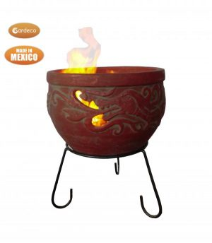 - WYND The Dragon fire pit burgundy colour Celtic theme including stand