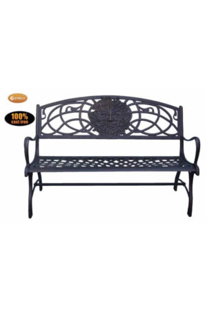 Cast Iron Bench with Green Man