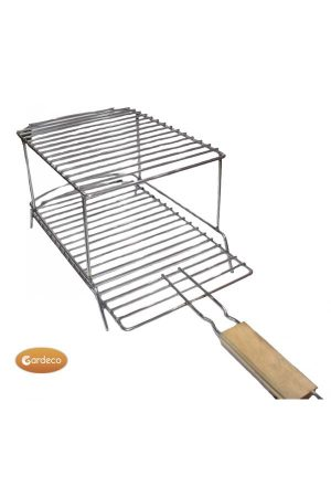 Stainless Steel Double Decker BBQ Grill