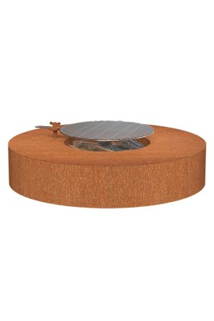 Adezz Corten Steel Wood Burning Firepit Table