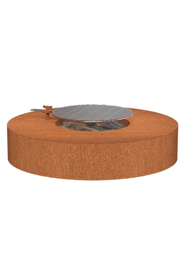 Adezz Corten Steel Wood Burning Firepit Table