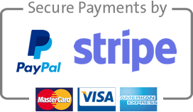 Secure payments with PayPal or Stripe