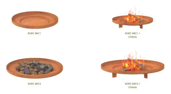 Adezz Corten Steel Borc Fire Saucer Options