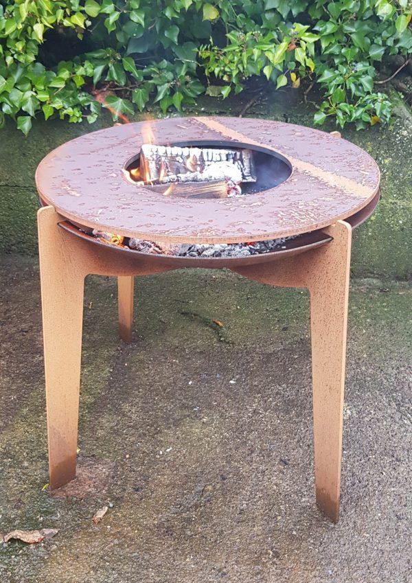 Adezz Corten Steel Fire Bowl on Legs