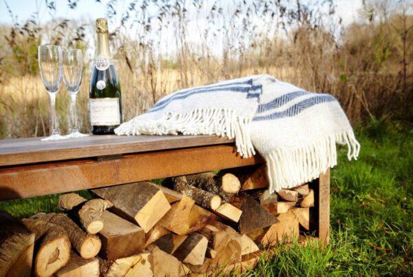 FORNO Wood Storage Bench (Corten steel)