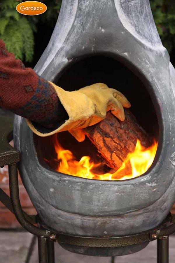 Suede Fire Resistant Gloves Chimenea
