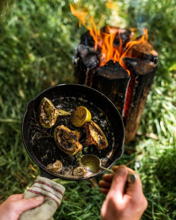 Swedish Alder Torch Log Cooking