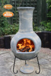 Extra-Large Colima Mexican Chimenea in Mid Grey