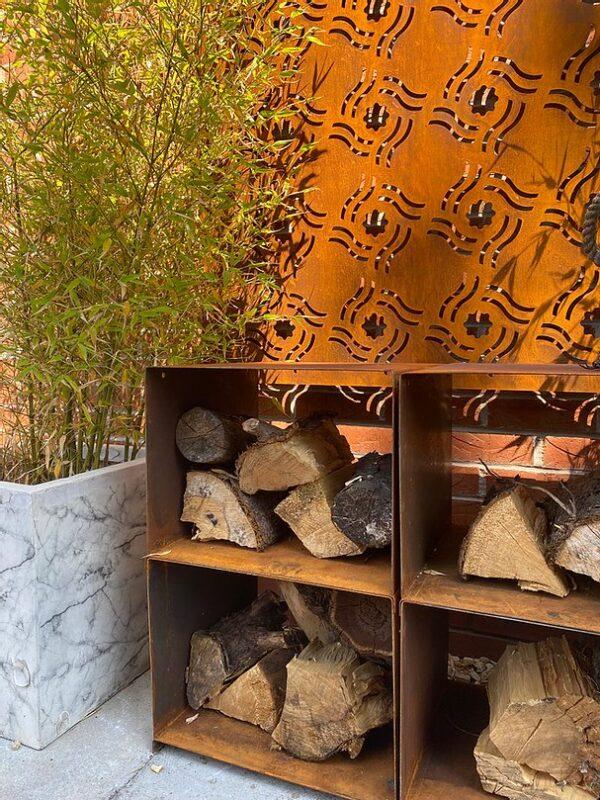 Oxi Fire Corten Steel Log Boxes