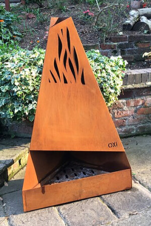 Oxi Fire Corten Steel Chiminea
