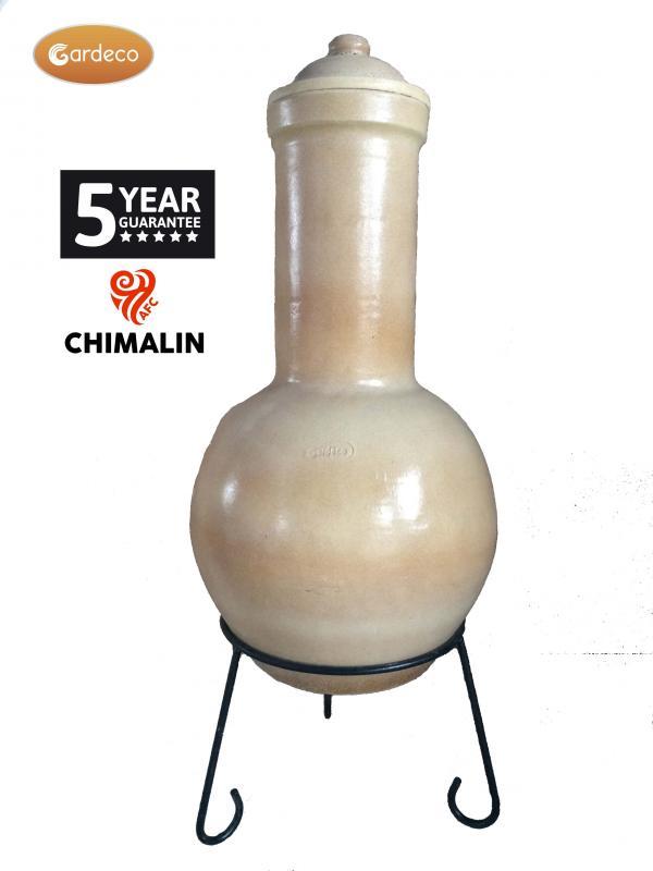 Sempra Large Chimalin AFC Glazed Cappuccino Clay Chimenea