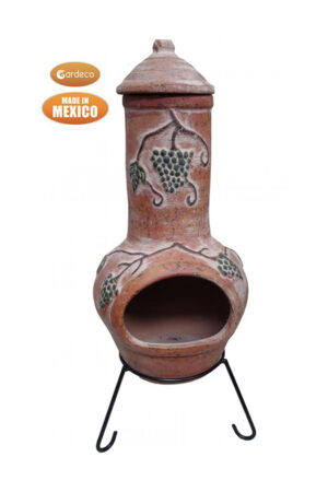 Grapes Extra-Large Terracotta & Yellow Mexican Chimenea