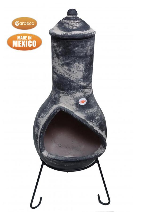 Jalisco Extra Large Mexican Chimenea Dark Grey