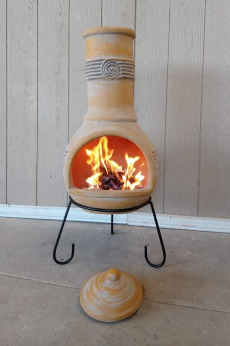 Tabasco Extra-Large Yellow Mexican Chimenea