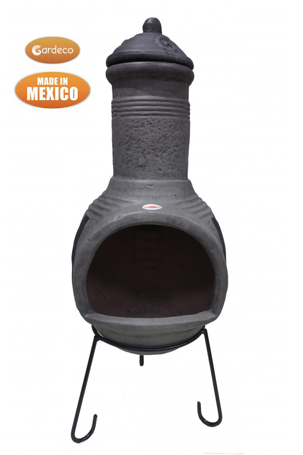 Tosca Extra-Large Dark Grey Mexican Chimenea