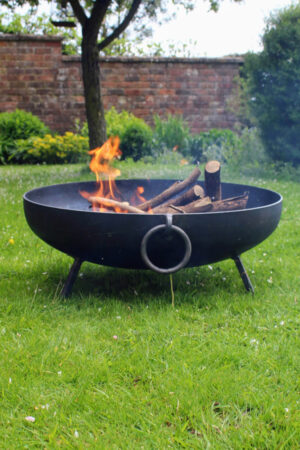 North Star Blacksmithing Solid Iron Fire Bowl