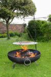 North Star Blacksmithing Solid Iron Swivel Grill